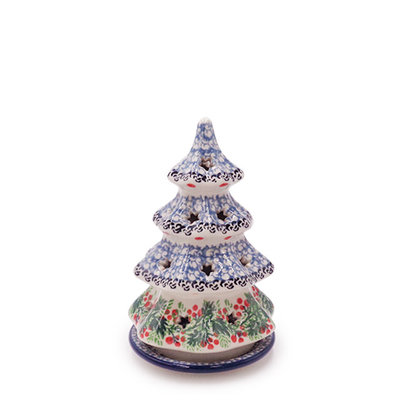 "CA Holly Berry 6"" Tree Luminary"