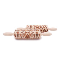 Embossed Wooden Rolling Pins - Small