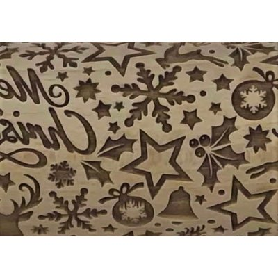 Elegant Christmas Embossed Rolling Pin