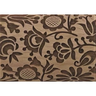 """Quilted Floral Embossed Rolling Pin 4 1/2"""""""