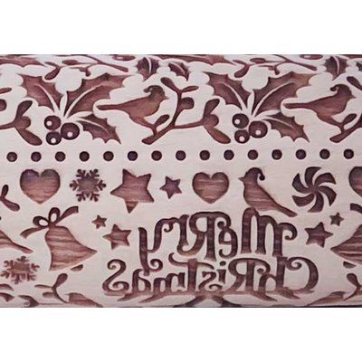 Holiday Holly Embossed Rolling Pin