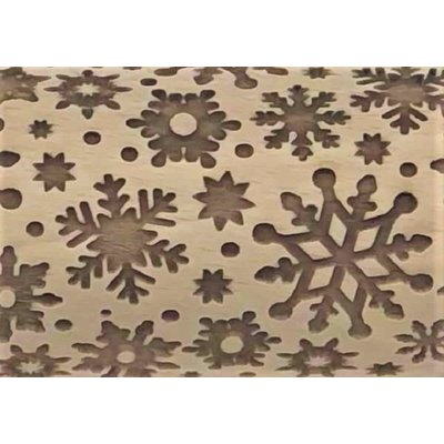 Snow Flurry Embossed Rolling Pin