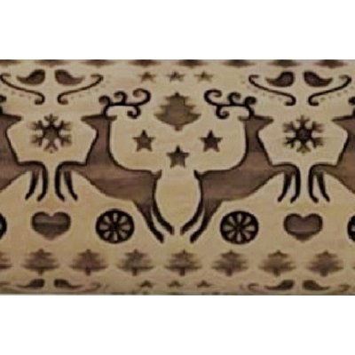 Reindeer Dance Embossed Rolling Pin