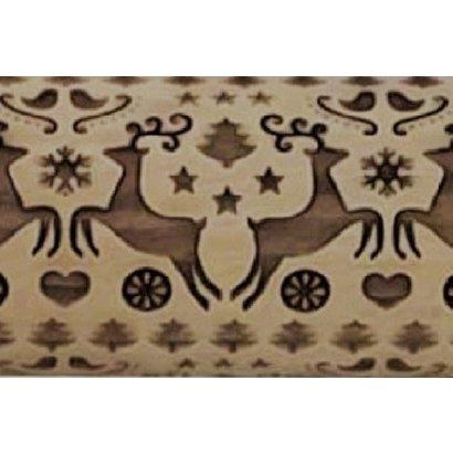 Reindeer Dance Embossed Rolling Pin