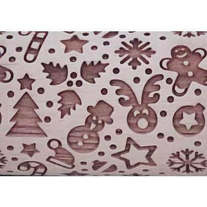 Holiday Confetti Embossed Rolling Pin