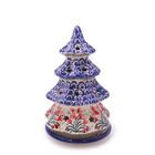 """Crimson Bells Christmas Tree Luminary 8"""""""