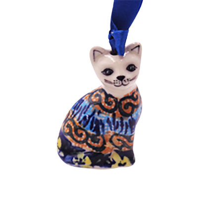 Midnight Daisy Cat Ornament