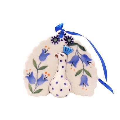 Bell Flower Peacock Ornament