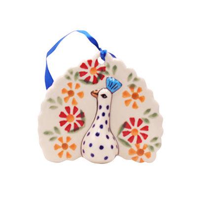 Marigolds Peacock Ornament