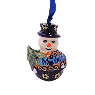 Midnight Daisy Snowman Ornament