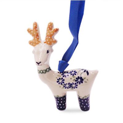 Forget Me Nots Reindeer Ornament