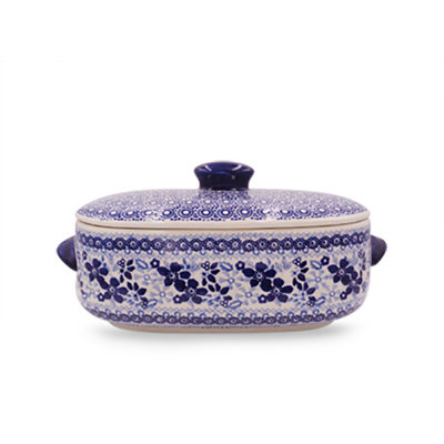 Indigo Garden Covered Casserole - Sm