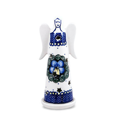 Pansies Illuminated Angel - Lrg