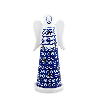 Diamond Lattice Illuminated Angel - Lrg