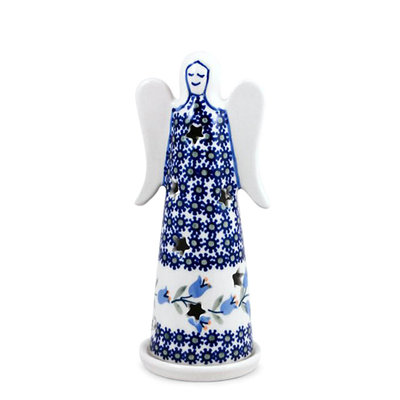 Bell Flower Illuminated Angel - Lrg