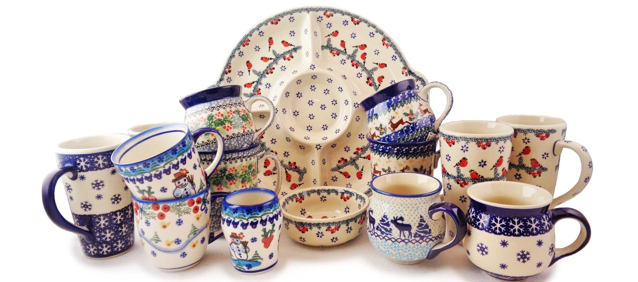 Check Out Our Festive Holiday Polish Stoneware Patterns