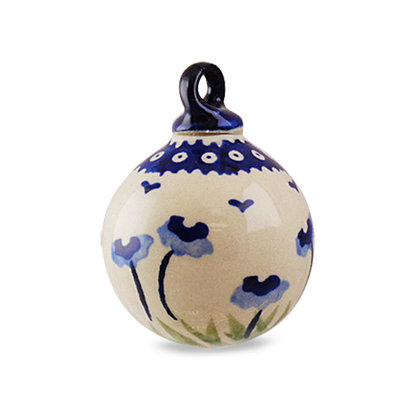 Blue Poppies Ornament