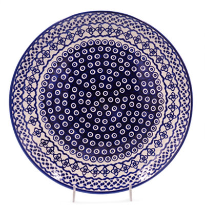 Diamond Lattice Dinner Plate 28