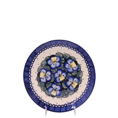 Pansies Salad Plate 22
