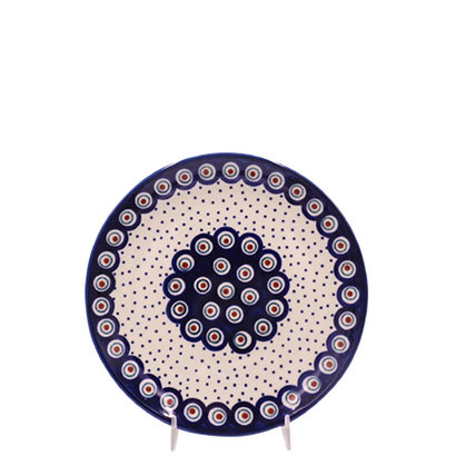 Dotted Peacock Salad Plate 22