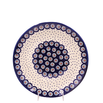 Dotted Peacock Dinner Plate 26