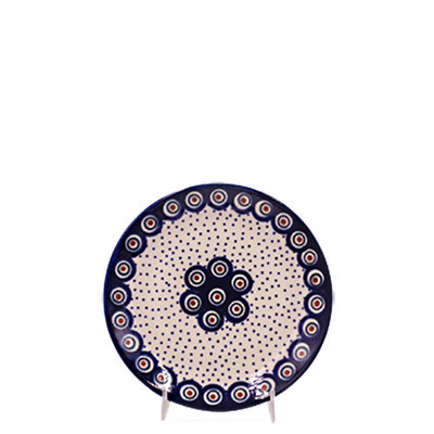 Dotted Peacock Dessert Plate 18