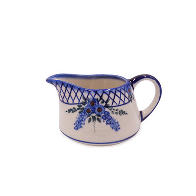 Lattice in Blue Gravy Boat