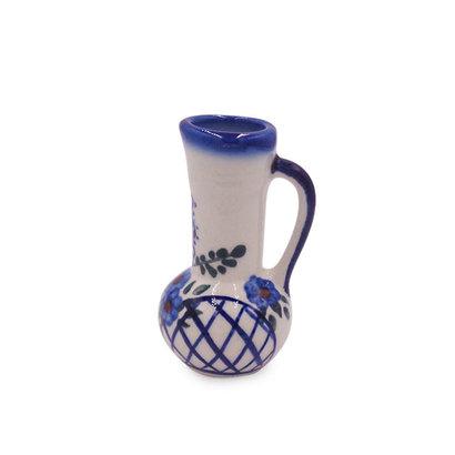 Lattice in Blue Mini Vase