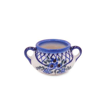 Lattice in Blue Mini Sugar Bowl