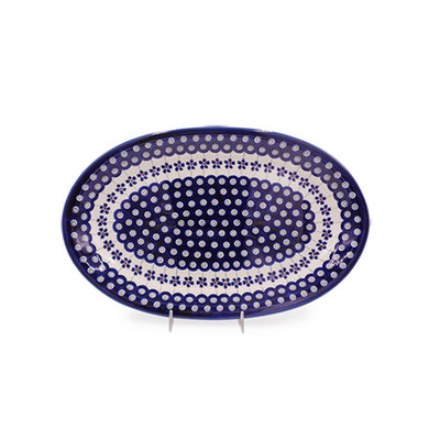Floral Peacock Oval Platter