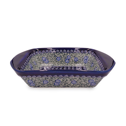 Blue Swirl Rectangular Baker