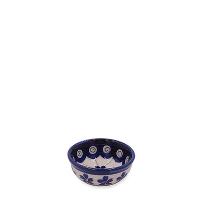 Floral Peacock Condiment Bowl - Sm