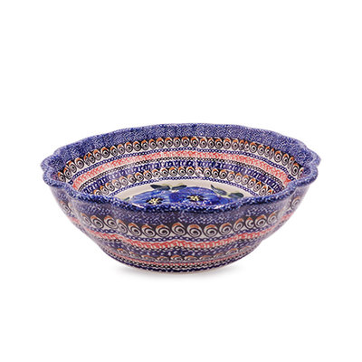 Morning Glory Shallow Serving Bowl