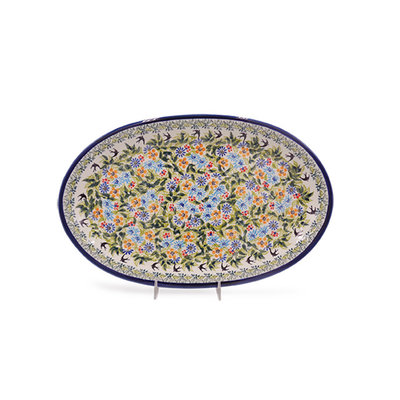 Black Birds Fly Oval Platter