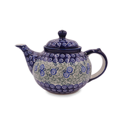 Blue Swirl Teapot