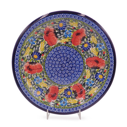 Kalich Wild Poppies Dinner Plate