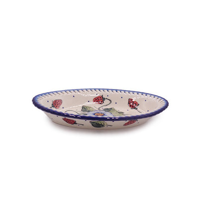 Berries & Cream Oval Fruit Bowl - Sm
