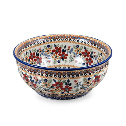 Posies F24 Fluted Serving Bowl