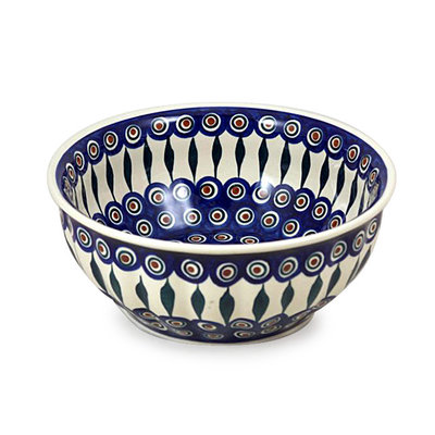 Peacock F24 Fluted Serving Bowl