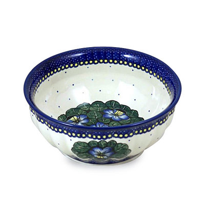 Pansies F24 Fluted Serving Bowl