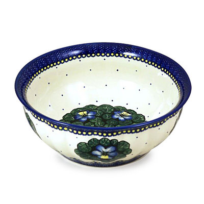 Pansies F30 Fluted Serving Bowl