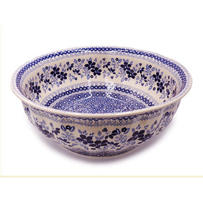 Indigo Garden F30 Fluted Serving Bowl