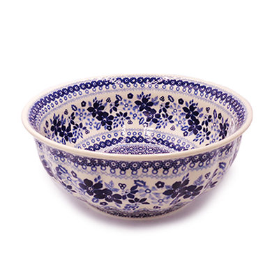 Indigo Garden F24 Fluted Servingl Bowl