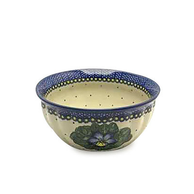 Pansies F21 Fluted Serving Bowl