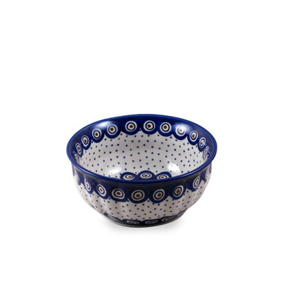 Dotted Peacock F18 Fluted Chili Bowl