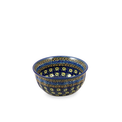 Midnight Daisy F15 Fluted Cereal Bowl