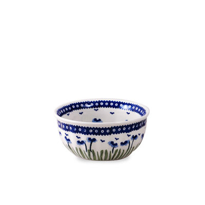 Blue Poppies F15 Fluted Ceral Bowl