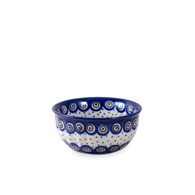 Dotted Peacock F15 Fluted Cereal Bowl