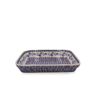 Bell Flower Rectangular Baker - Sm