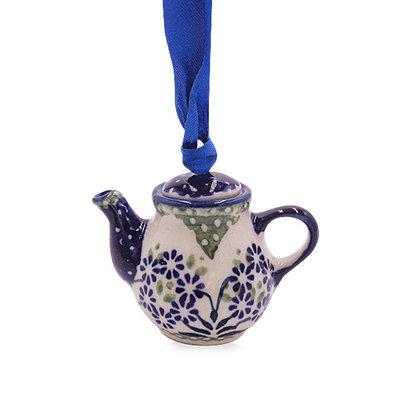 Forget Me Nots Teapot Ornament